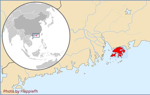 hong kong map asia