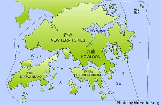 hong kong map by region