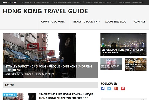 Hong Kong Travel Blog new design