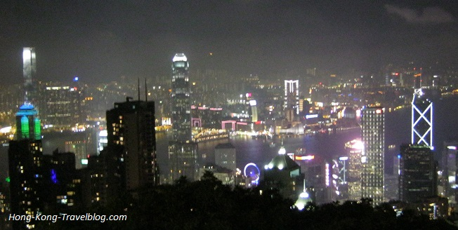 victoria peak hong kong night view