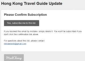 mailchimp subscription 1