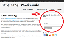 travel blog page