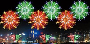 national day fireworks display hong kong