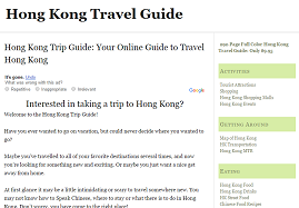 hong kong trip guide