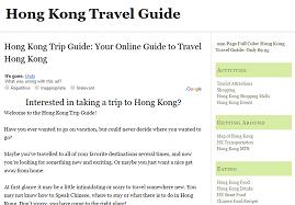 hong kong trip guide