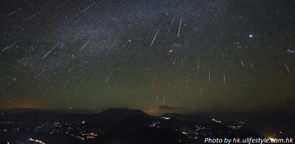 meteor shower hong kong 2017 image